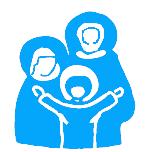 Ruch Rodzin Nazaretańskich - logo niebieskie